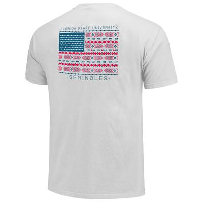 Florida State Comfort Colors Aztec Pattern Flag Tee