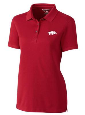 Arkansas Cutter & Buck Women's Advantage DryTec Polo