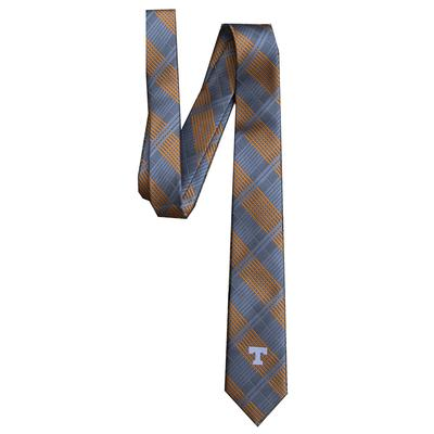 Tennessee Men's Woven Polyester Skinny Plaid Tie