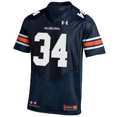Auburn Under Armour #34 Replica Jersey NAVY
