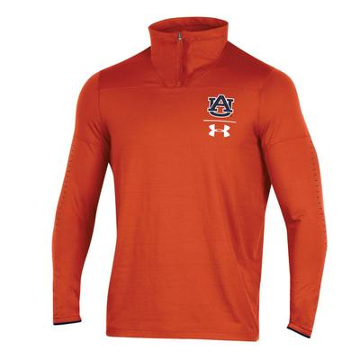 Auburn Under Armour Coaches 1/4 Zip Pullover ORANGE