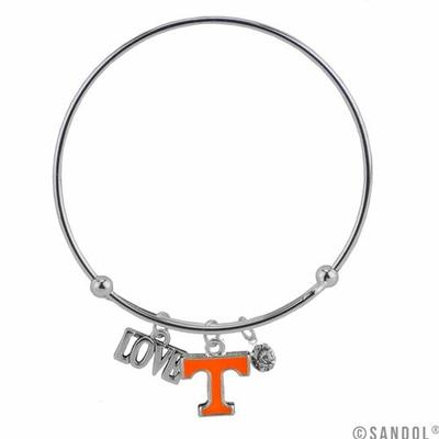 Tennessee Love Charm Coil Bracelet