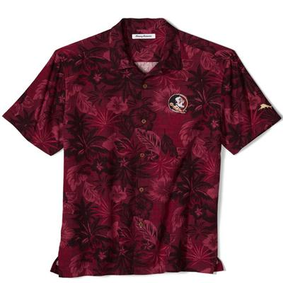 Florida State Tommy Bahama Fuego Floral Camp Shirt