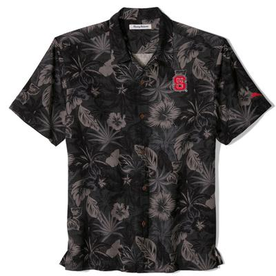 NC State Tommy Bahama Fuego Floral Camp Shirt