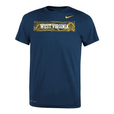 West Virginia Nike Youth Legend Short Sleeve Sideline Tee