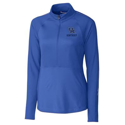 Kentucky Cutter & Buck Women's Pennant Sport 3/4 Zip Pullover