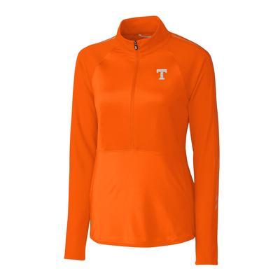 Tennessee Cutter & Buck Women's Pennant Sport 3/4 Zip Pullover