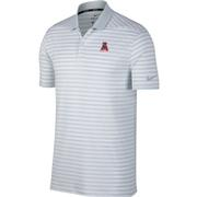 Alabama Nike Golf Vault Logo Dry Victory Stripe Polo