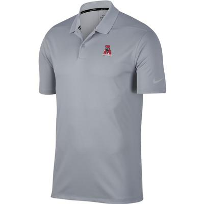 Alabama Nike Golf Vault Logo Dry Victory Solid Polo WOLF_GREY