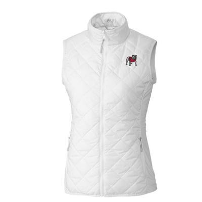 Georgia Cutter & Buck Women's Sandpoint Vest WHITE