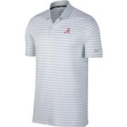 Alabama Nike Golf Vault Banner A Dry Victory Stripe Polo