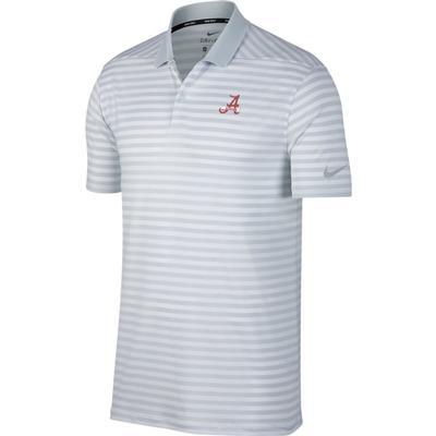 Alabama Nike Golf Vault Banner A Dry Victory Stripe Polo PURE_PLATINUM
