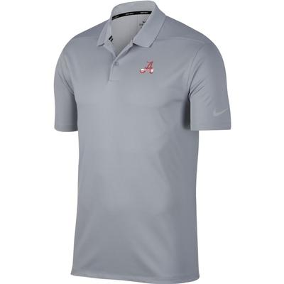 Alabama Nike Golf Vault Banner A Dry Victory Solid Polo WOLF_GREY