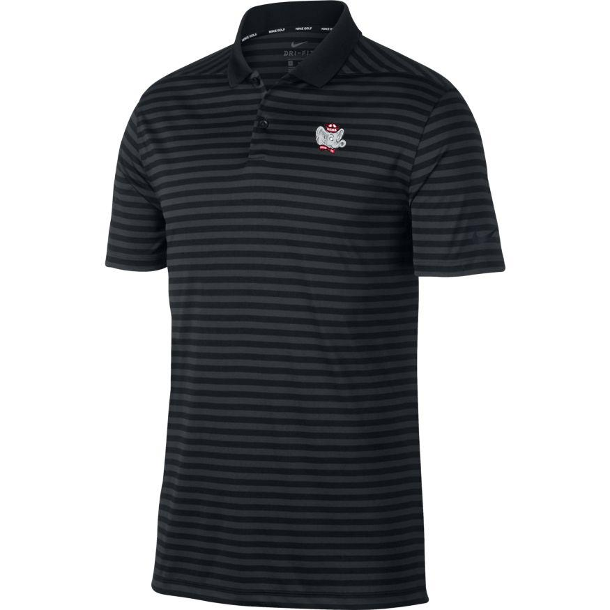 Alabama Nike Golf Retro Elephant Dry Victory Stripe Polo