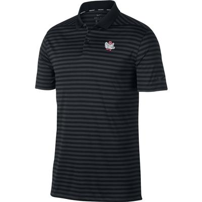 Alabama Nike Golf Retro Elephant Dry Victory Stripe Polo BLK