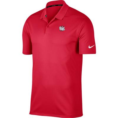 Alabama Nike Golf Retro Elephant Dry Victory Solid Polo CRIMSON