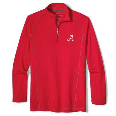 Alabama Tommy Bahama Goal Keeper Half Zip Pullover