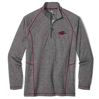 Arkansas Tommy Bahama Goal Keeper Half Zip Pullover