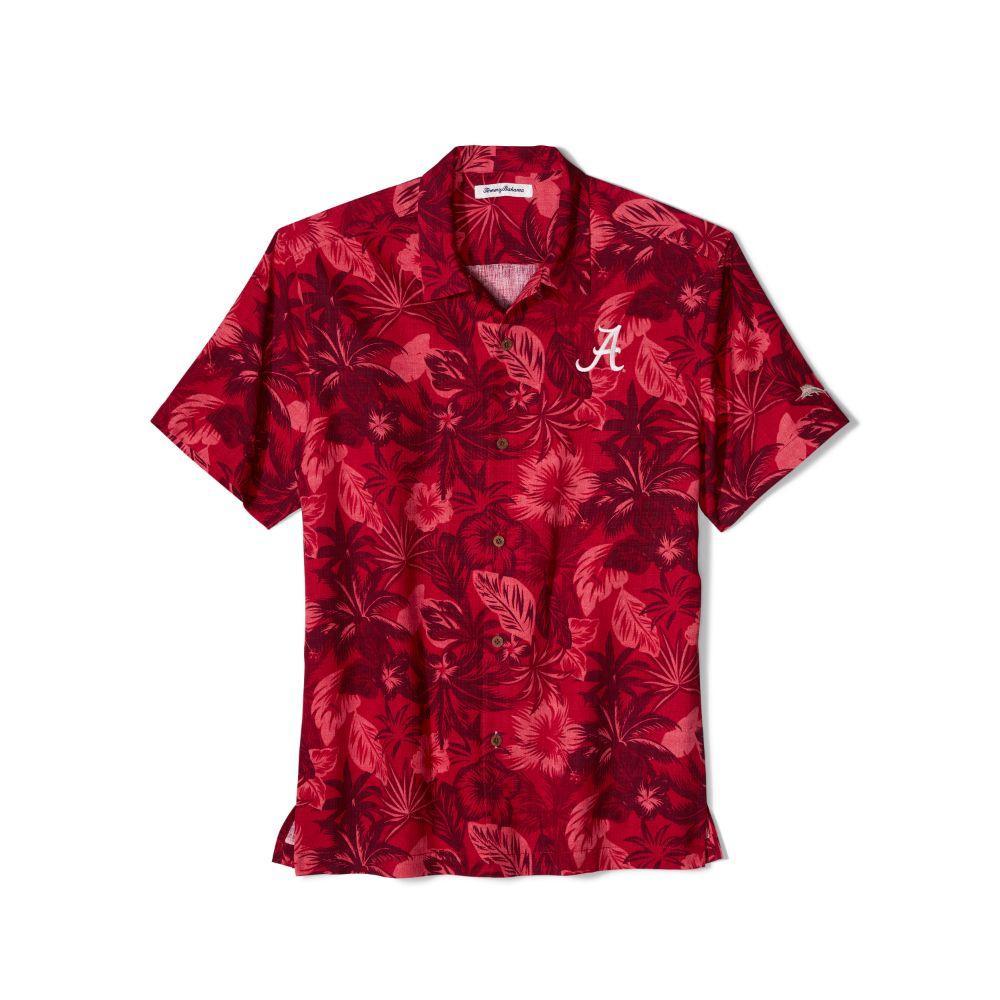 Alabama Tommy Bahama Fuego Floral Camp Shirt