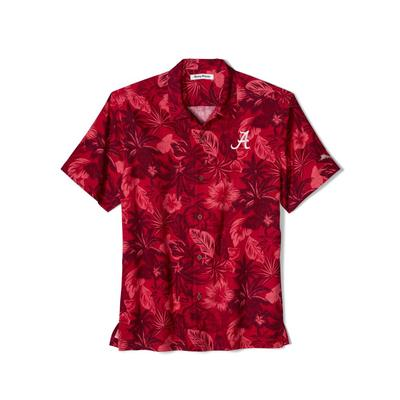 Alabama Tommy Bahama Fuego Floral Camp Shirt