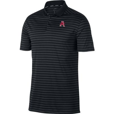Arkansas Nike Golf Vault Logo Dry Victory Stripe Polo