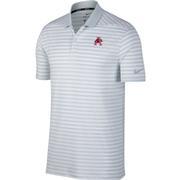 Arkansas Nike Golf Vault Logo Dry Victory Stripe Polo