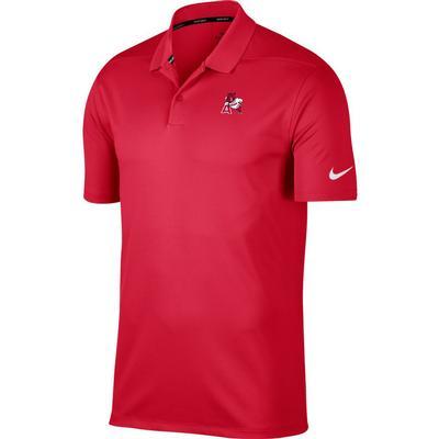Arkansas Nike Golf Leaning Hog Dry Victory Solid Polo CRIMSON