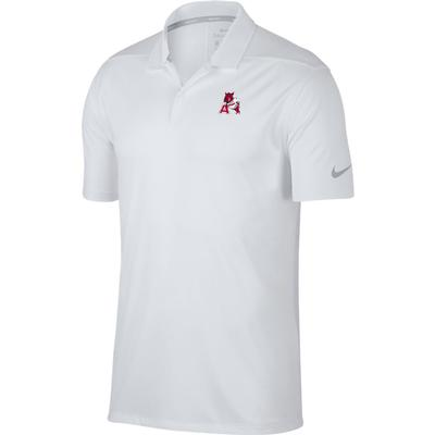 Arkansas Nike Golf Leaning Hog Dry Victory Solid Polo WHT