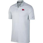 Arkansas Nike Golf Retro Running Hog Dry Victory Stripe Polo