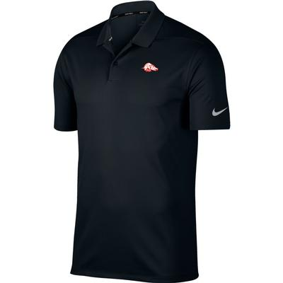 Arkansas Nike Golf Retro Running Hog Dry Victory Solid Polo