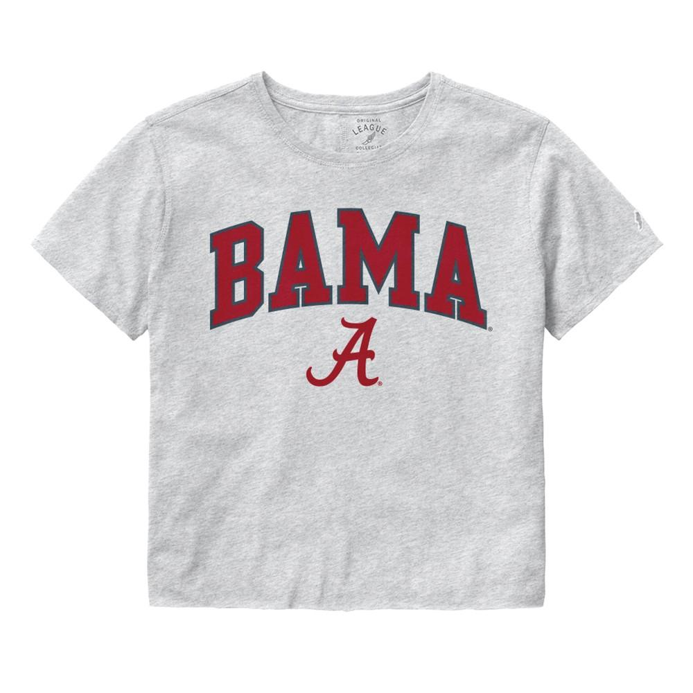 Alabama League Women's Clothesline Crop Tee