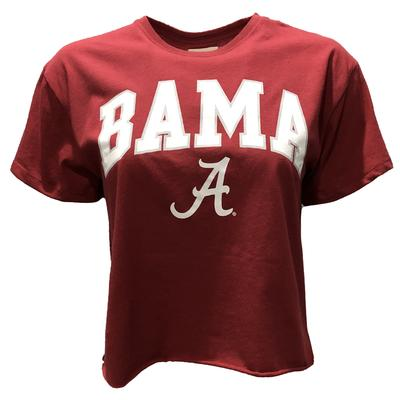 Alabama League Women's Clothesline Crop Tee