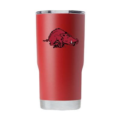 Arkansas Gametime Sidekick 20oz Running Hog Vault Tumbler With Lid