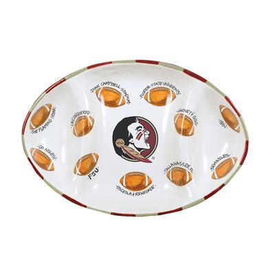 Florida State Magnolia Lane Football Platter