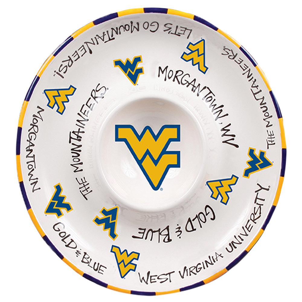 West Virginia Circle Chip & Dip Platter