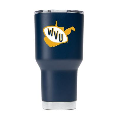 West Virginia Gametime Sidekick 30oz Retro State Vault Tumbler With Lid