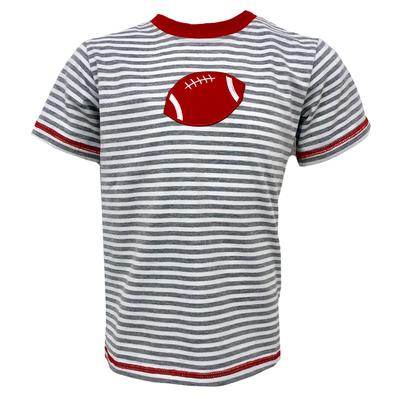 Grey and Red Toddler Football Tee