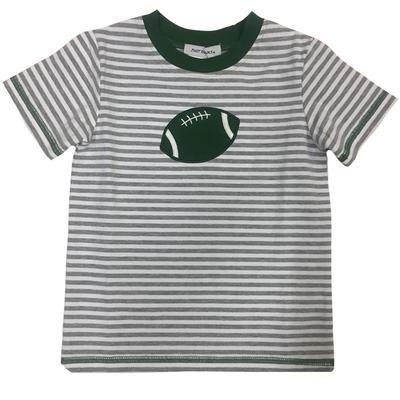 Green and Grey Toddler Football T-Shirt