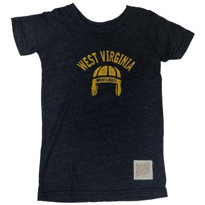 West Virginia Retro Brand Vintage Helmet Toddler Tee