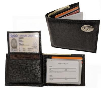 Virginia Tech Bi-Fold Wallet W/ Concho VT