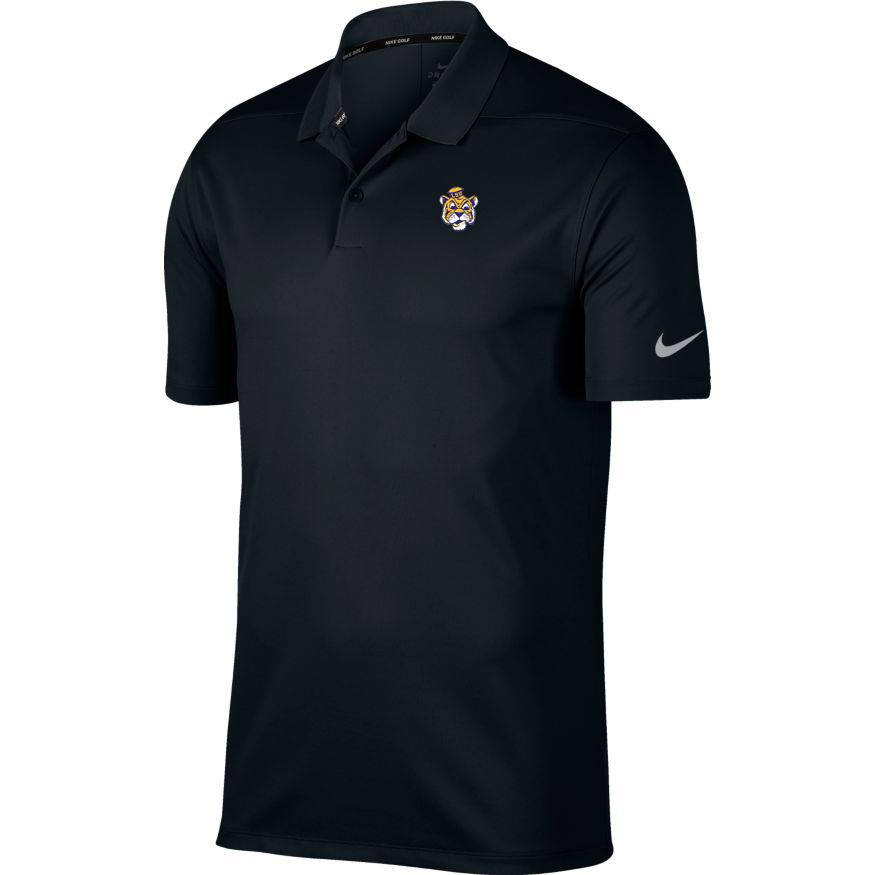 Lsu Nike Golf Vault Tiger Dry Victory Solid Polo