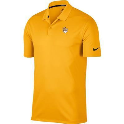 LSU Nike Golf Vault Tiger Dry Victory Solid Polo GOLD