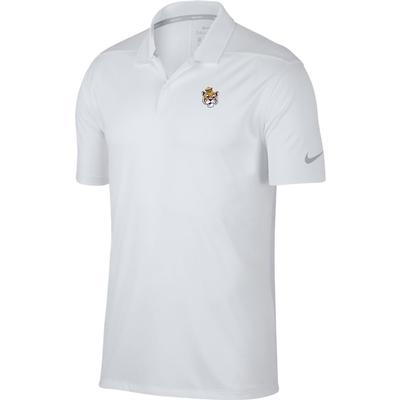 LSU Nike Golf Vault Tiger Dry Victory Solid Polo WHT