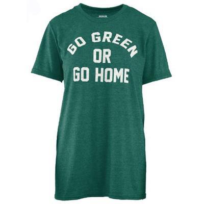 Go Green Or Go Home Pressbox Melange Tee