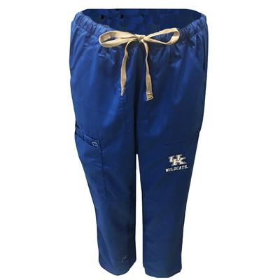 Kentucky Women's Cargo Pocket Straight Leg Scrubs ROYAL