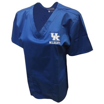 Kentucky Women's V-Neck Top Scrubs