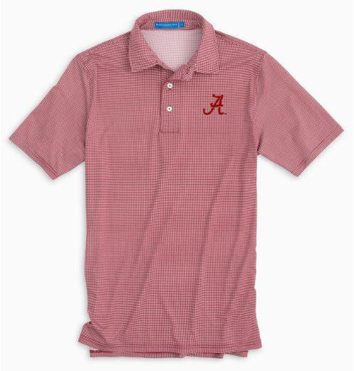 Alabama Southern Tide Gameday Tattersall Polo