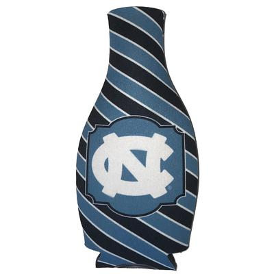UNC Bias Stripe Bottle Coozie
