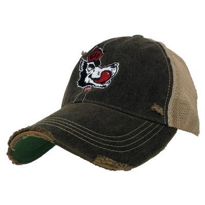 NC State Retro Brand Vault Wolf Trucker Cap