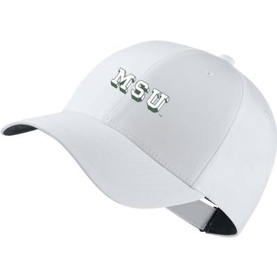 Michigan State Nike Golf Block Vault Dri-Fit Tech Cap WHITE